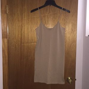 Dresses & Skirts - Nude, tan sleeveless slip dress Sz M/L